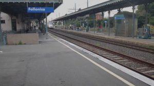 Stazione di Follonica prima dell'eliminazione del primo binario.